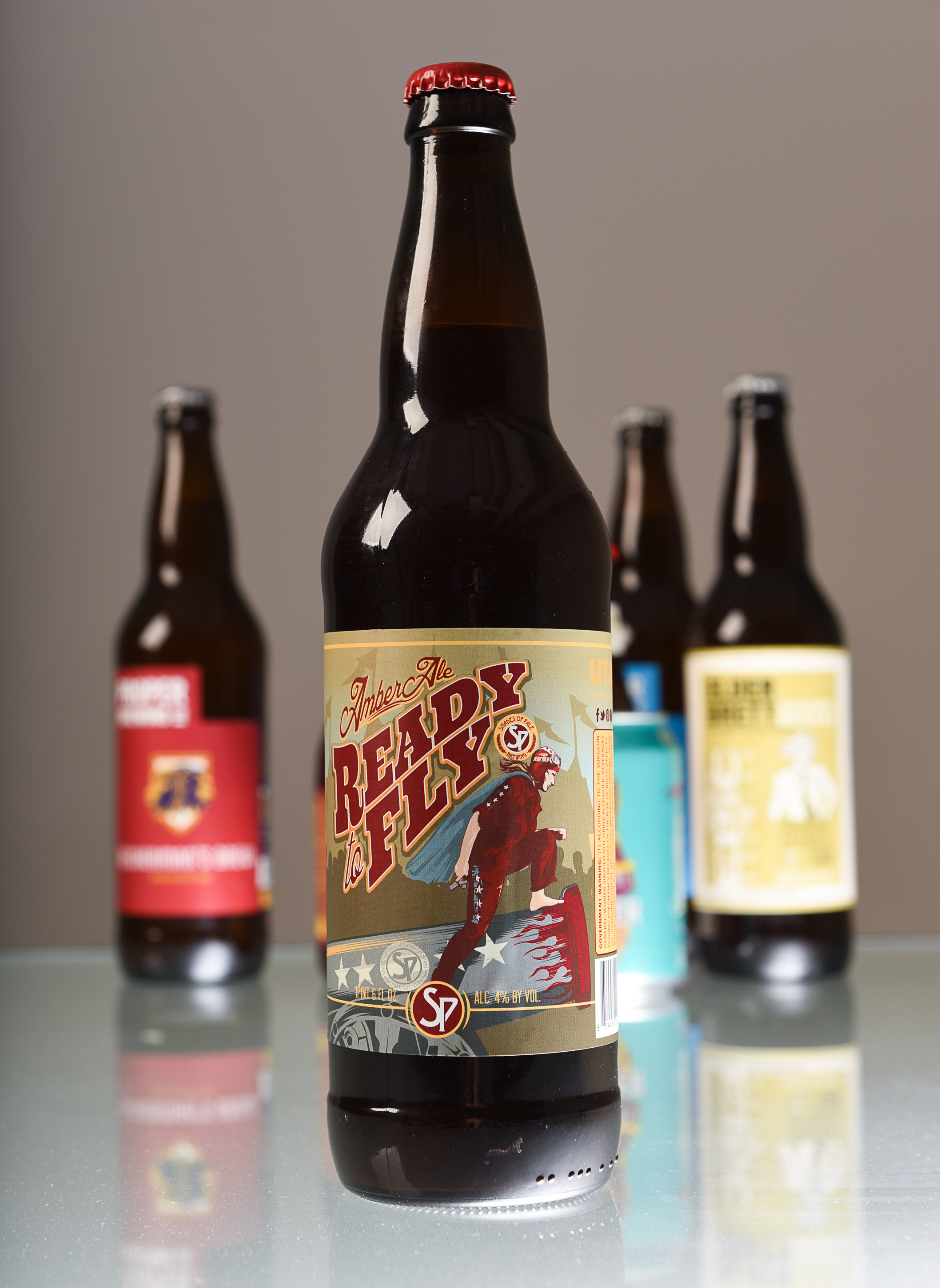 (Francisco Kjolseth  |  The Salt Lake Tribune)  Utah's best beer names. Amber Ale Ready to Fly by Shades of Pale Brewing.