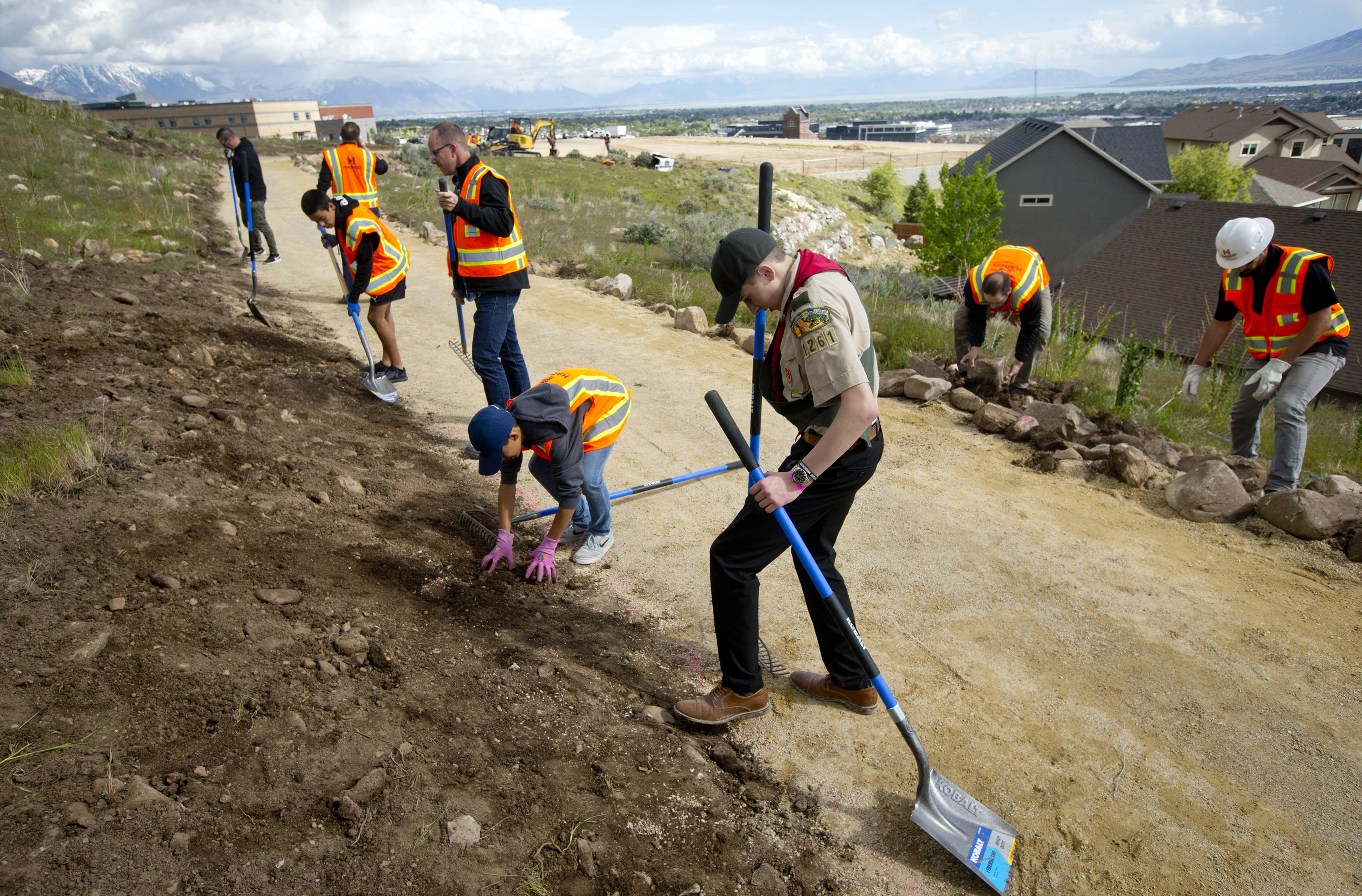 Lehi Boy Scout builds trail to give kids easier access to school