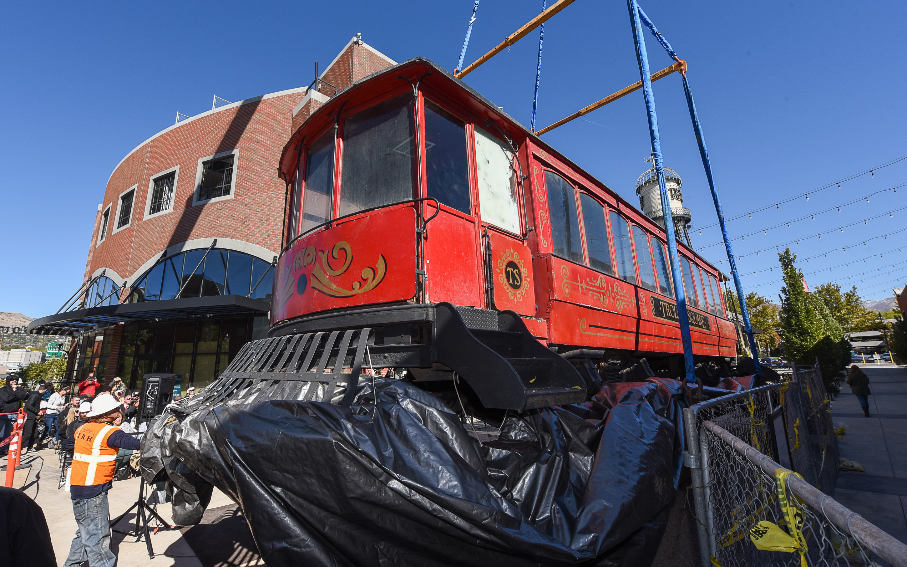 Back on track — historic streetcar returns to Salt Lake City's Trolley Square
