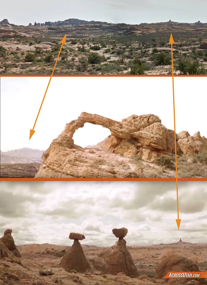 Videos purport to show destruction of Utah arch and hoodoo — but a clue in the background shows they may be fake