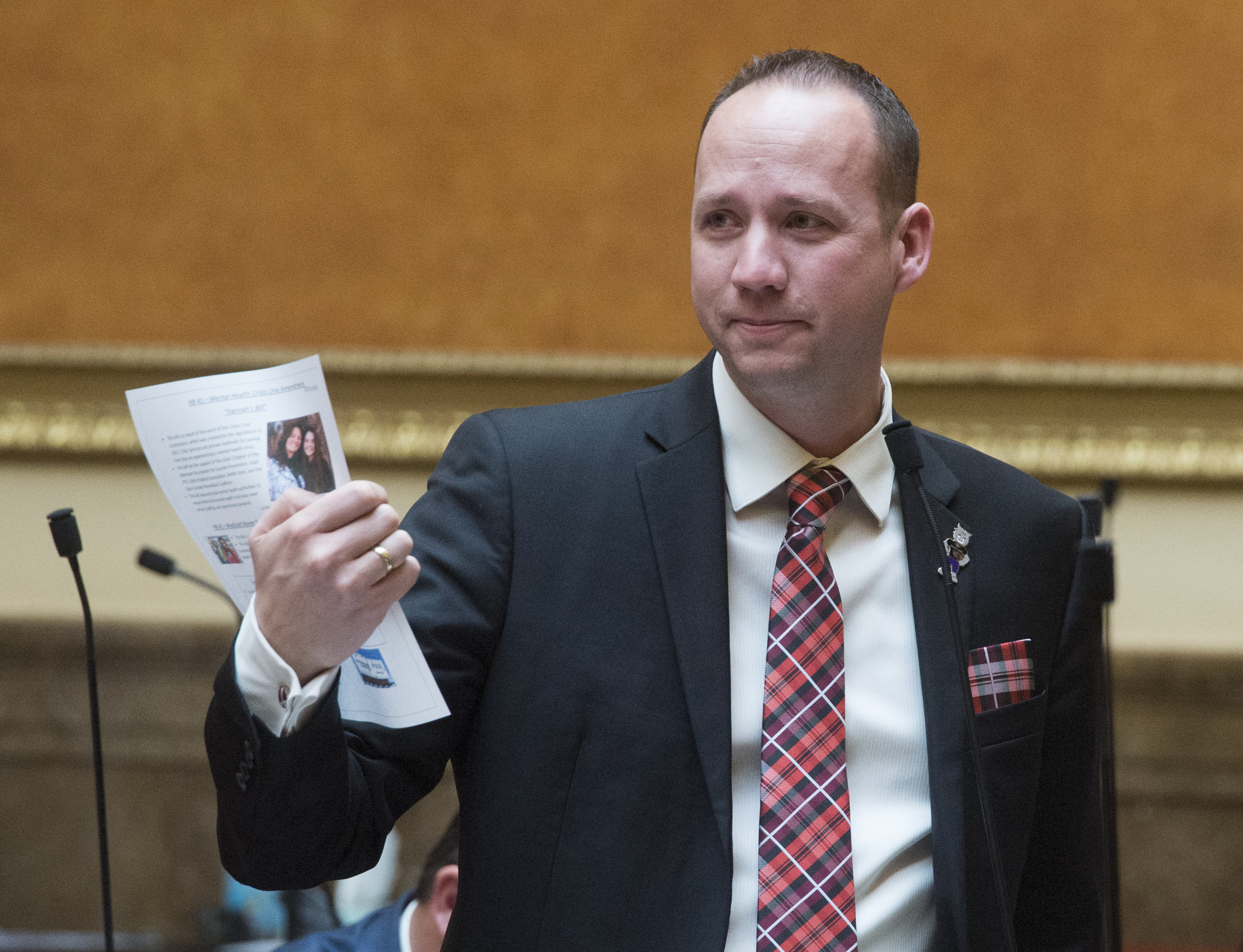 (Rick Egan  |  The Salt Lake Tribune) Utah Rep. Justin Fawson, R-North Ogden, is backing legislation aimed at empowering local campus boards in Utah's higher education system to make hiring and firing decisions regarding school presidents.