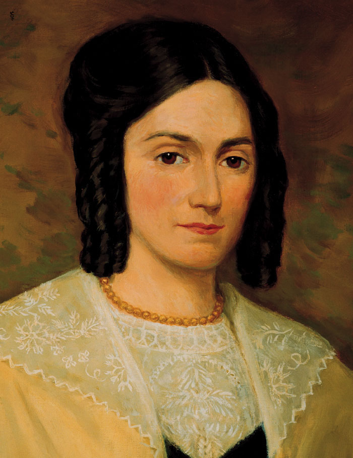 (Photo courtesy of The Church of Jesus Christ of Latter-day Saints) Emma Hale Smith, wife of Mormon founder Joseph Smith.