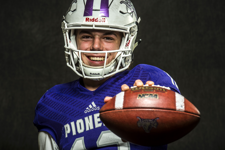 Chris Detrick  |  The Salt Lake Tribune Lehi quarterback Cammon Cooper poses for a portrait Friday December 9, 2016.