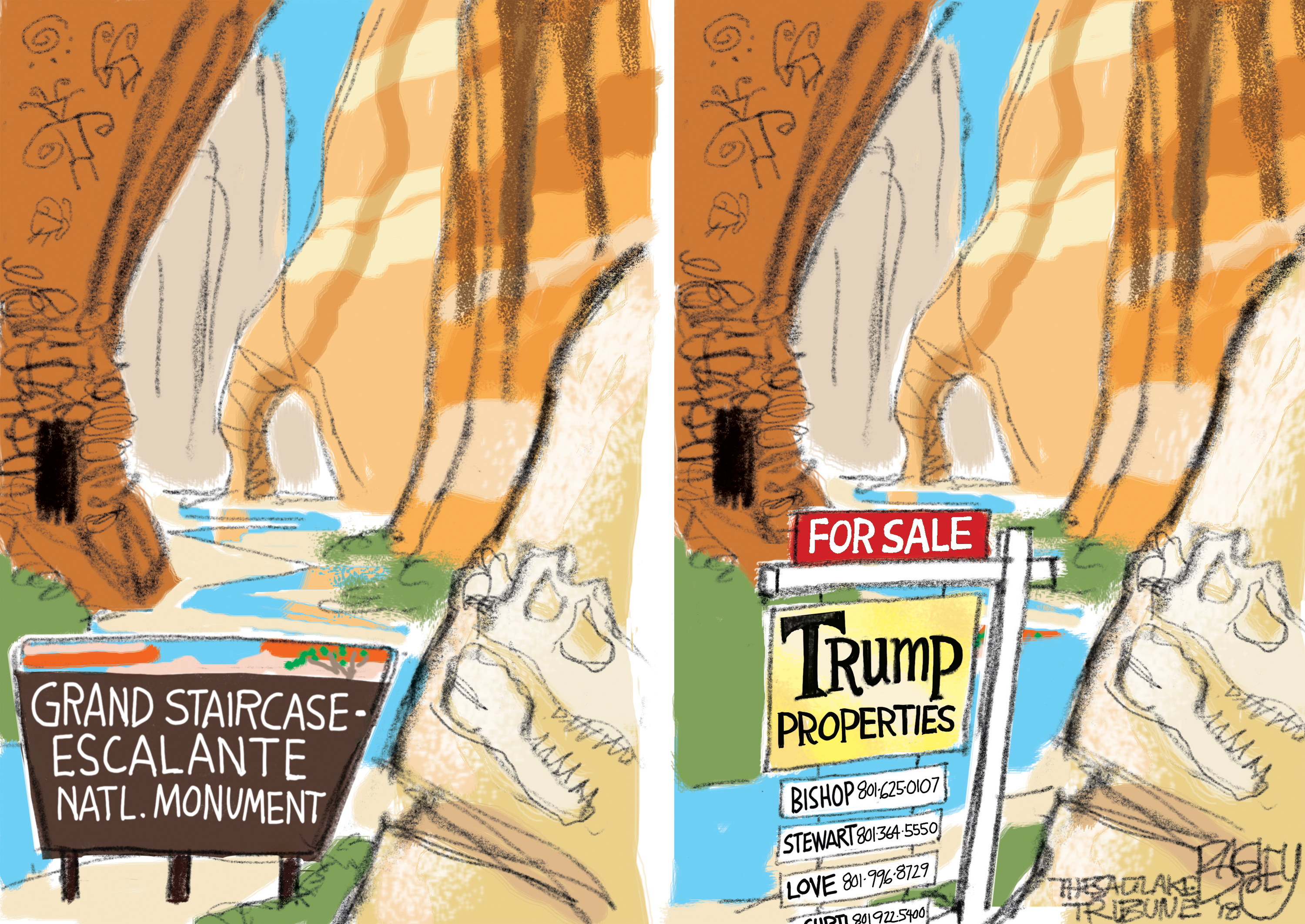 Bagley Cartoon: This Land Is Trump's Land