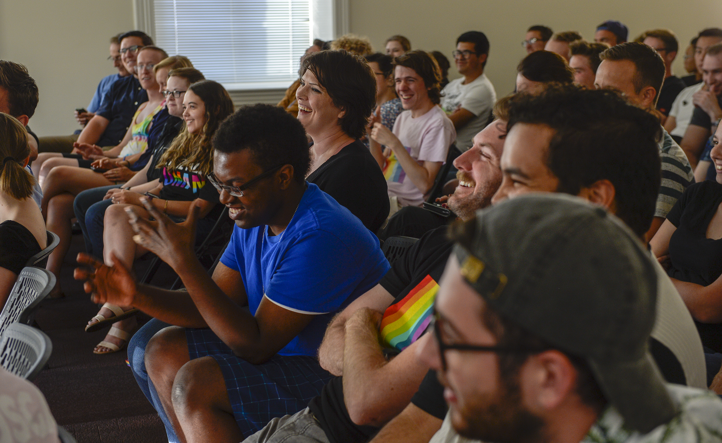 Leah Hogsten  |  The Salt Lake Tribune  LGBT students at Brigham Young University meet at the Provo City Library, June 28, 2018 to hold open, respectful discussions on the topic of same-gender attraction. USGA is an organization for LGBT Brigham Young University students and their allies to discuss issues relating to homosexuality and the LDS Church.