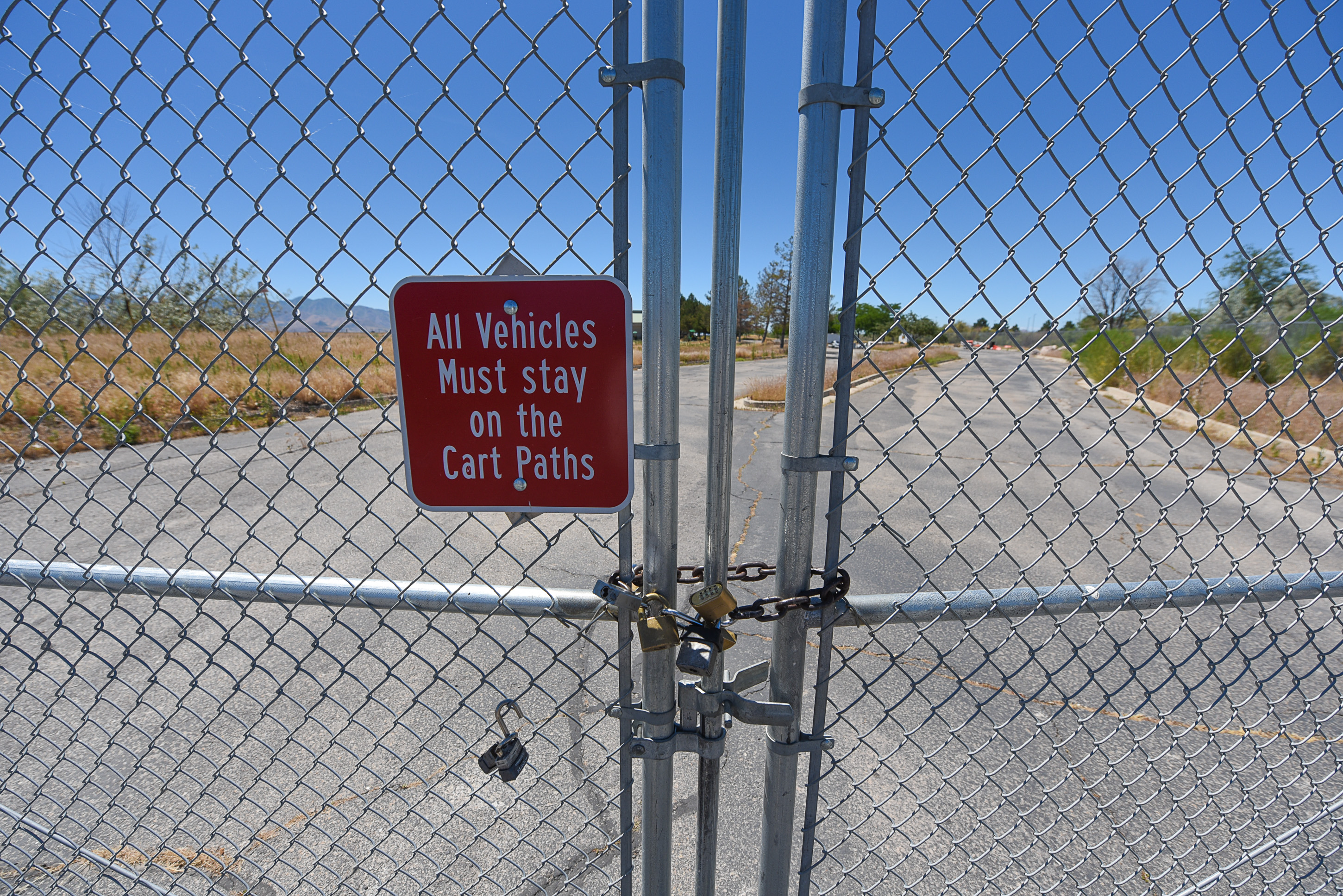 (Francisco Kjolseth  |  The Salt Lake Tribune)  Weeds and dead grass have taken over at the defunct and shuttered Wingpointe golf course near the Salt Lake International Airport, but a group of leaders, including Mayor Jackie Biskupski and Congressman Chris Steward are working on a plan to bring it back.