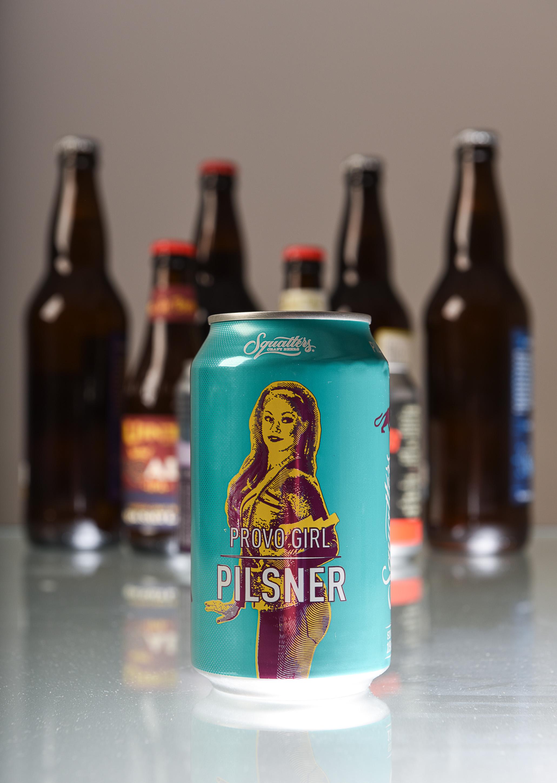 (Francisco Kjolseth  |  The Salt Lake Tribune)  Utah's best beer names. Provo Girl pilsner by Squatters Craft Beers.