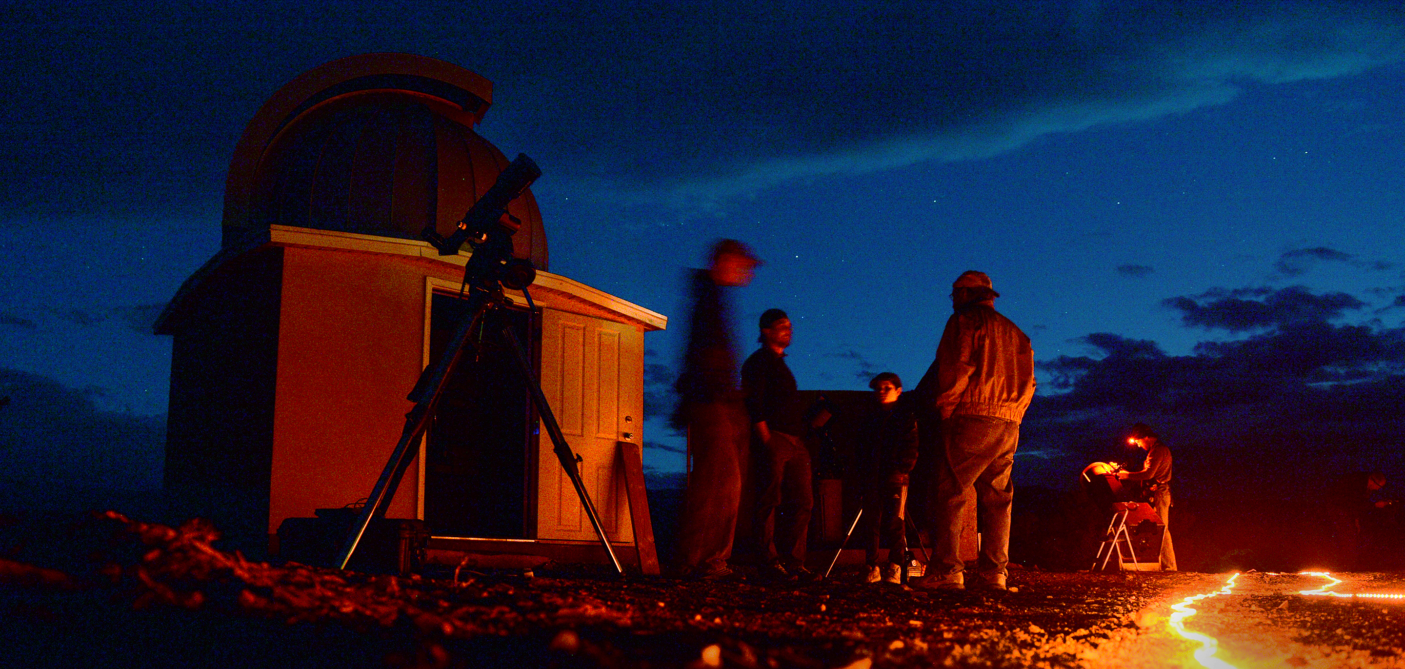 (Leah Hogsten  |  The Salt Lake Tribune) Torrey residents discuss the town's Dark Sky Community application while viewing planets and constellations during the town's star party Oct., 19, 2017.