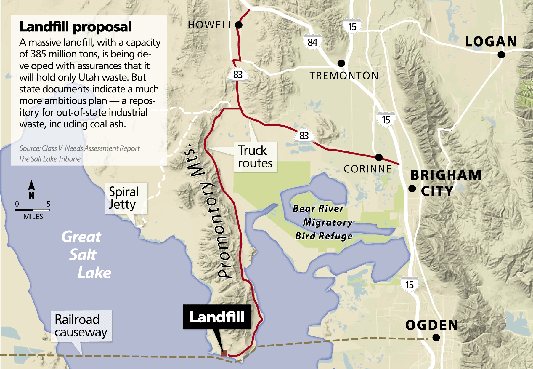 Landfill near the Great Salt Lake could become one of the nation's largest industrial waste repositories