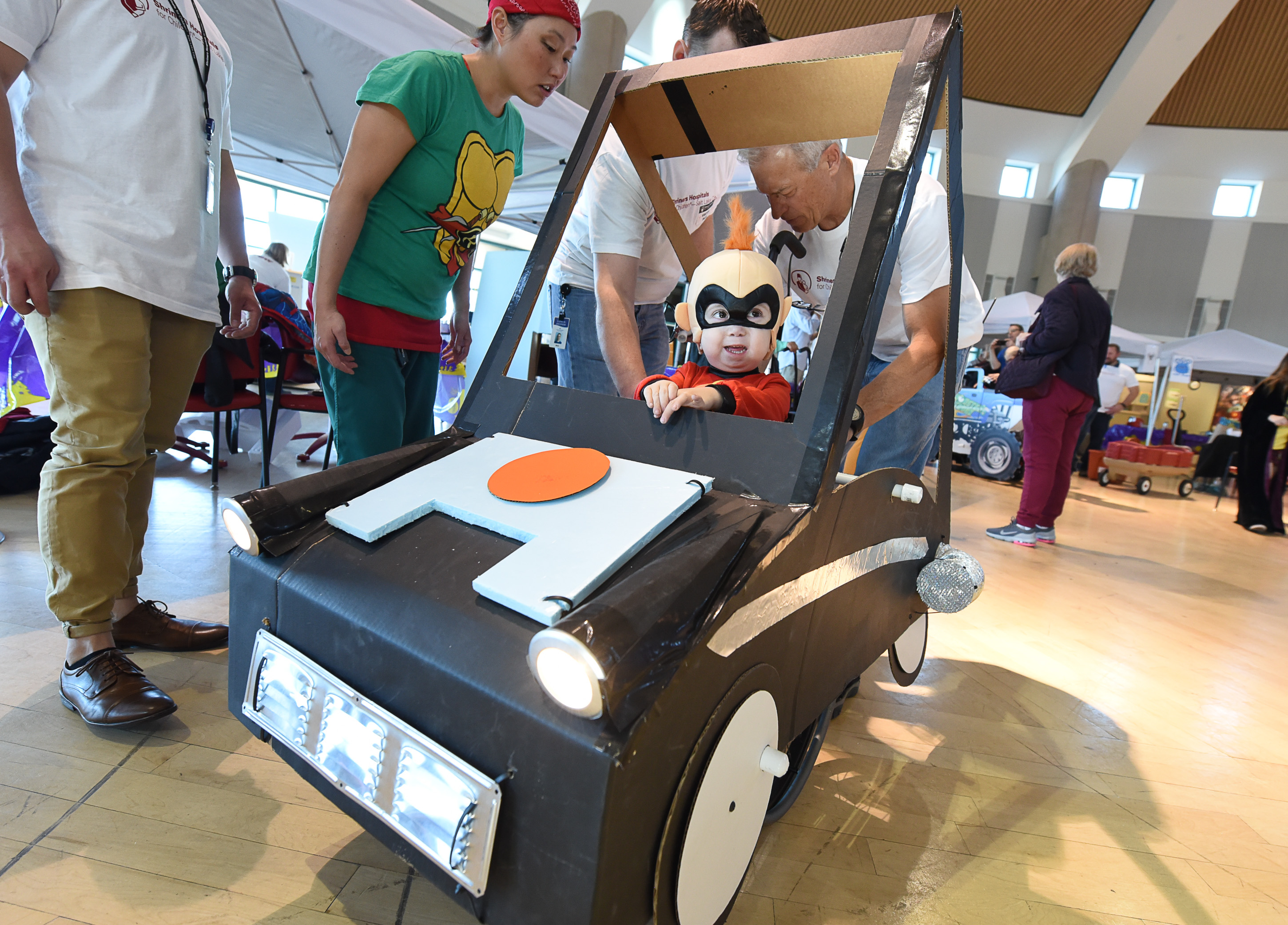 From cupcakes to the Millennium Falcon, volunteers with Shriners in Salt Lake City turn kids' wheelchairs into elaborate Halloween costumes