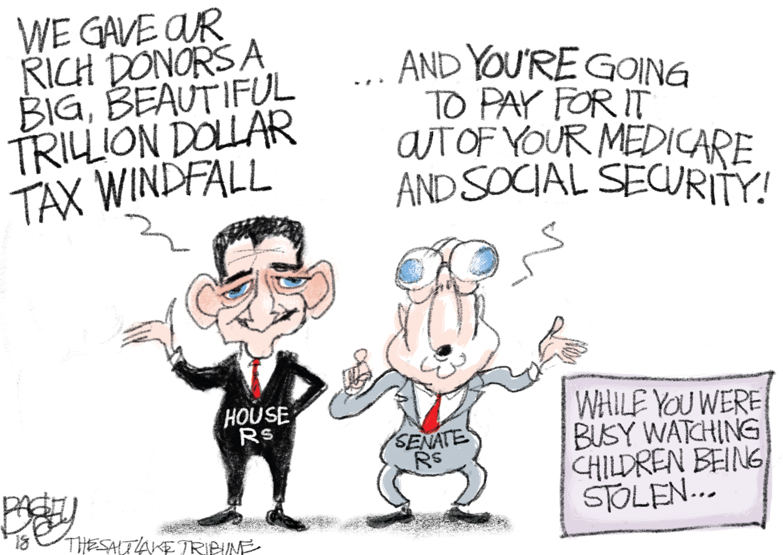 Bagley Cartoon: Deficit Deceit