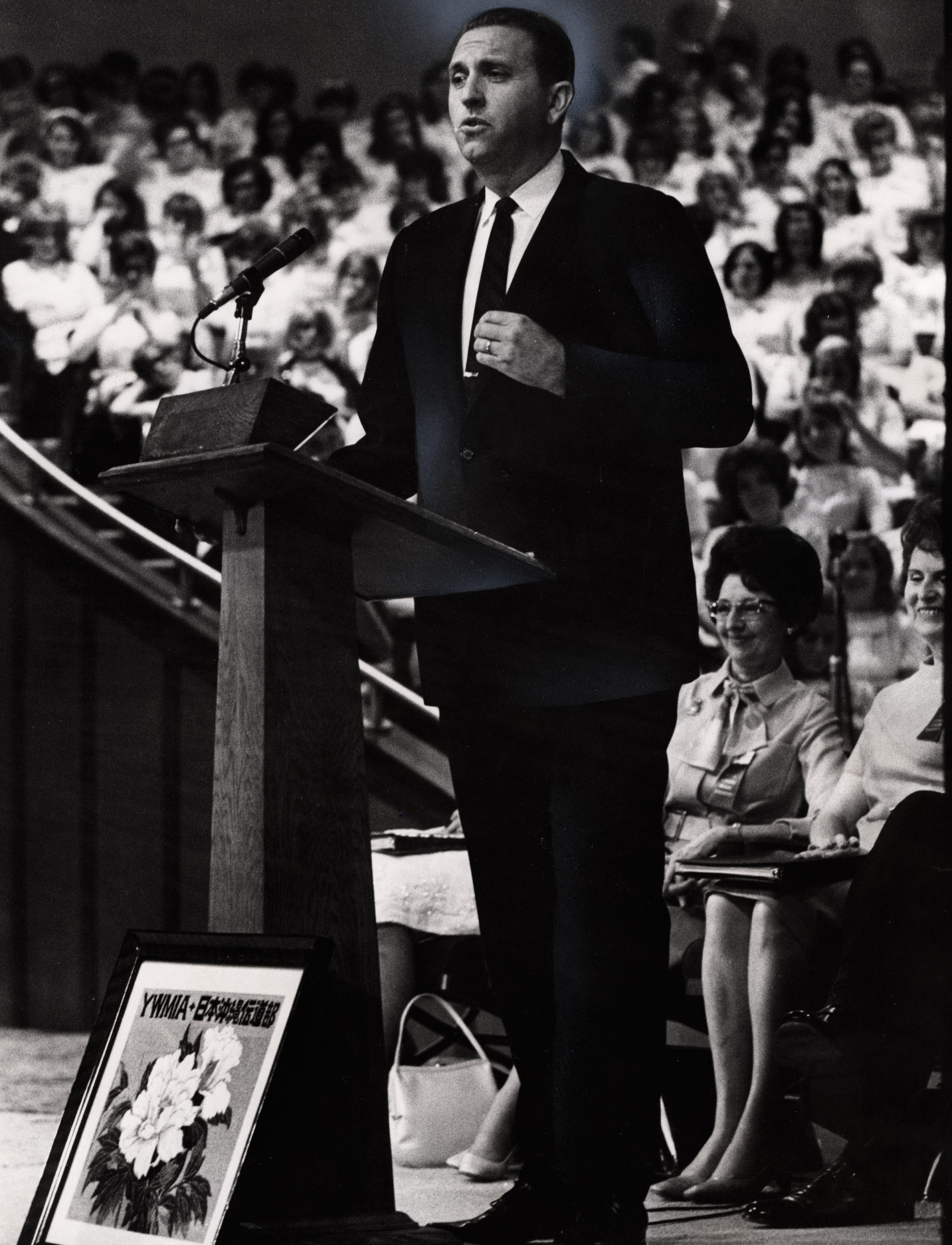 (Tribune file photo) Elder Thomas S. Monson speaks in 1968.