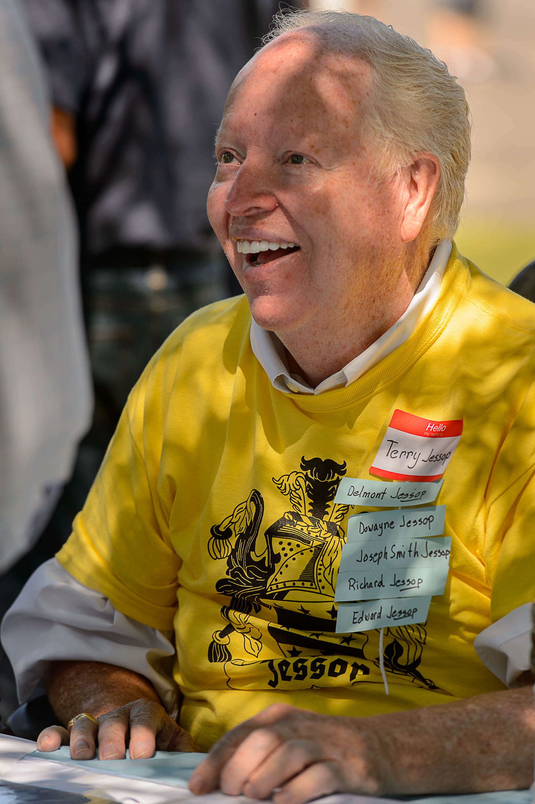 (Trent Nelson  |  The Salt Lake Tribune)  Terry Jessop, organizer of the Jessop Family International Reunion in Millville Saturday August 12, 2017.
