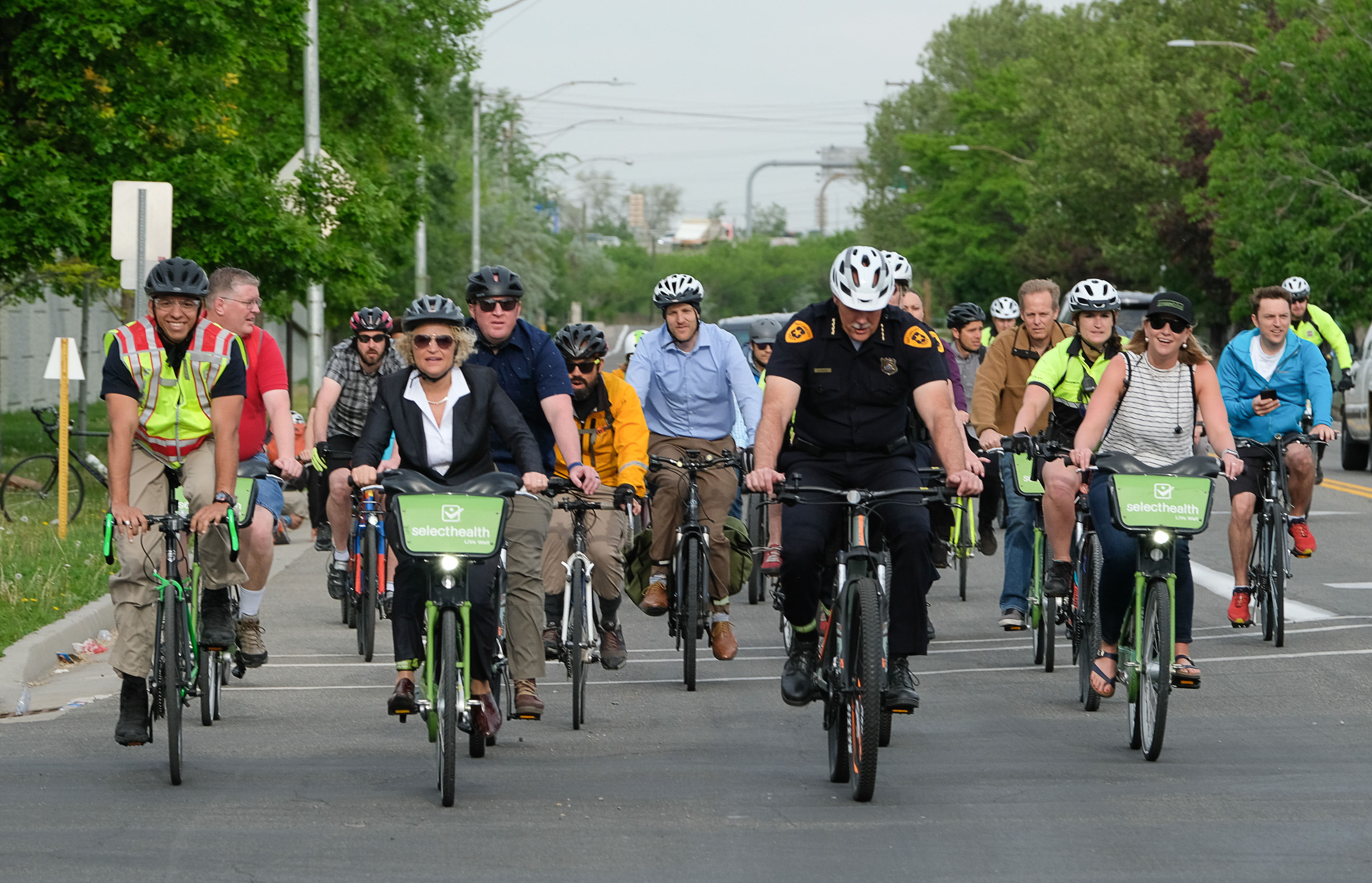A ride along the Jordan River helps Salt Lake City's mayor promote alternative transportation