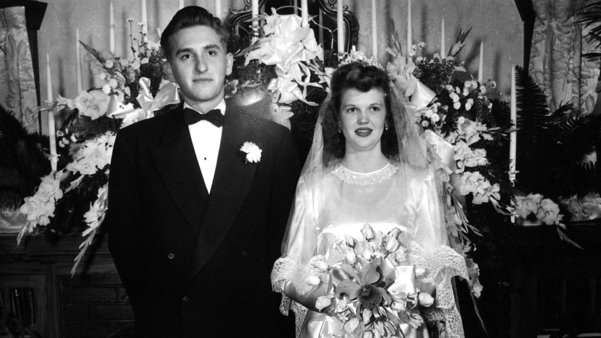 (photo courtesy LDS Church) Thomas S. Monson and his wife Frances on their wedding day on Oct. 7, 1948.