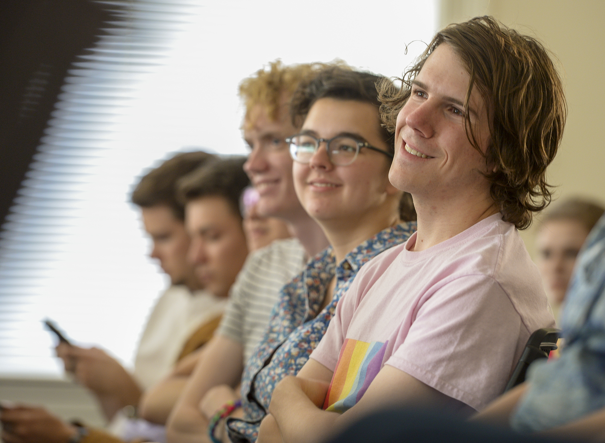 Leah Hogsten  |  The Salt Lake Tribune  LGBT Brigham Young University students meet at the Provo City Library, June 28, 2018 to hold open, respectful discussions on the topic of same-gender attraction. USGA is an organization for LGBT Brigham Young University students and their allies to discuss issues relating to homosexuality and the LDS Church.