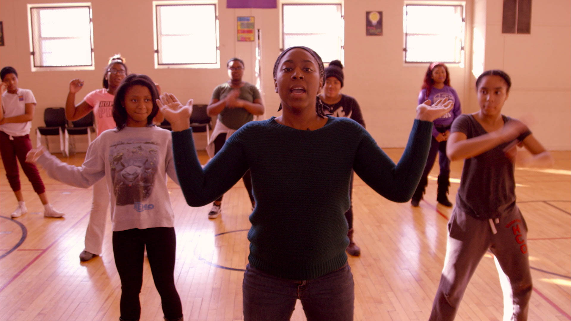 "(  |  courtesy Fox Searchlight Pictures) Gari McIntyre, a k a ""Coach G,"" and the Lethal Ladies of BLYSW, a Baltimore school's step team, profiled in the documentary ""Step."""