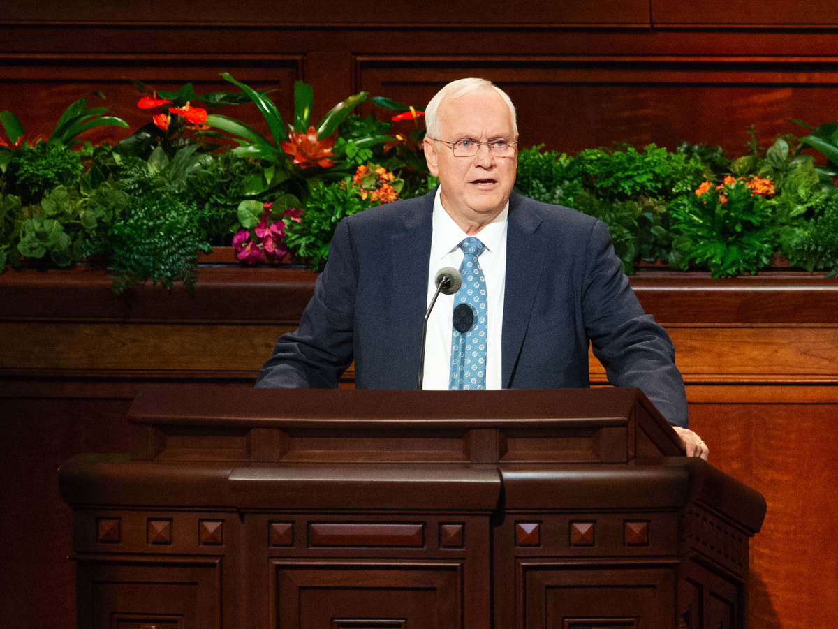 (Keith Johnson | Special to The Tribune) Elder Robert C. Gay, a member of the Presidency of the Seventy, speaks during the 188th Semiannual General Conference of The Church of Jesus Christ of  Latter-day Saints on Oct. 7, 2018, in Salt Lake City.